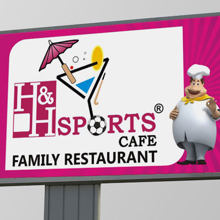 H & H Restaurant-Hoardings